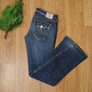True Religion Joey Flare Distressed Jeans 29x34